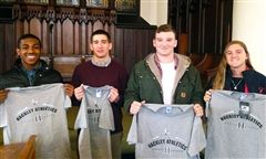 (Left to right) Anthony R. '16, Sam W. '15, Milo L.'15, and Sammy M. '16