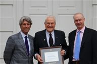From L-R: Headmaster Drew Casertano, Dr. Oakleigh Thorn II '47, Director of Alumni and Development Bob Anthony '65