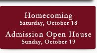 4th Button - Homecoming Admission Open House